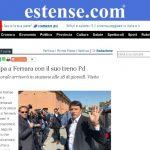 Renzi fa tappa a Ferrara con il suo treno Pd