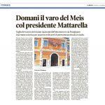 Domani il varo del Meis col presidente Mattarella