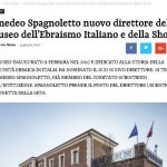 Amedeo Spagnoletto nuovo direttore del Museo dell'Ebraismo Italiano e della Shoah