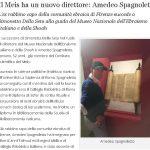 Il Meis ha un nuovo direttore: Amedeo Spagnoletto