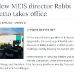 New MEIS director Rabbi Spagnoletto takes office