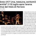 """""""Ebreo chi? Una, nessuna, centomila identità"""": il 15 luglio apre l'arena estiva del Meis di Ferrara"""