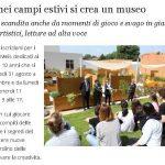 Al Meis nei campi estivi si crea un museo