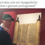 """L'intervista con rav Spagnoletto """"Al Meis i giovani protagonisti"""""""