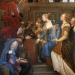 1. La regina Ester di fronte ad Assuero - particolare
